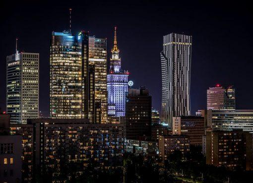 warschau-city-nachts